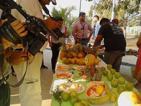 Feria de Frutas de temporada y juegos para promover suconsumo