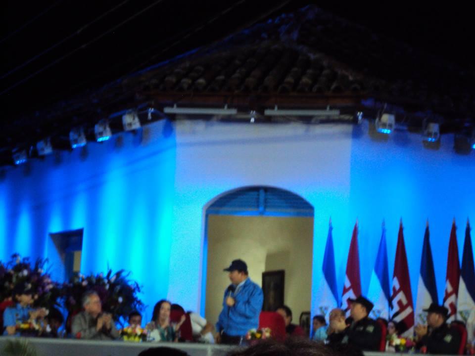 Presidente Daniel Ortega presidió acto oficial enNiquinohono