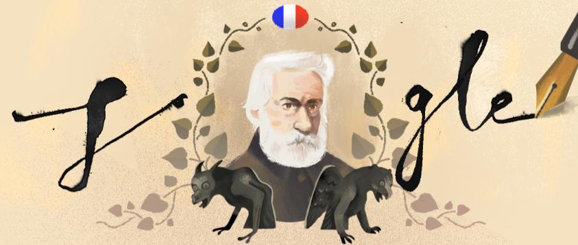 Google celebra al emblemático escritor francés VictorHugo