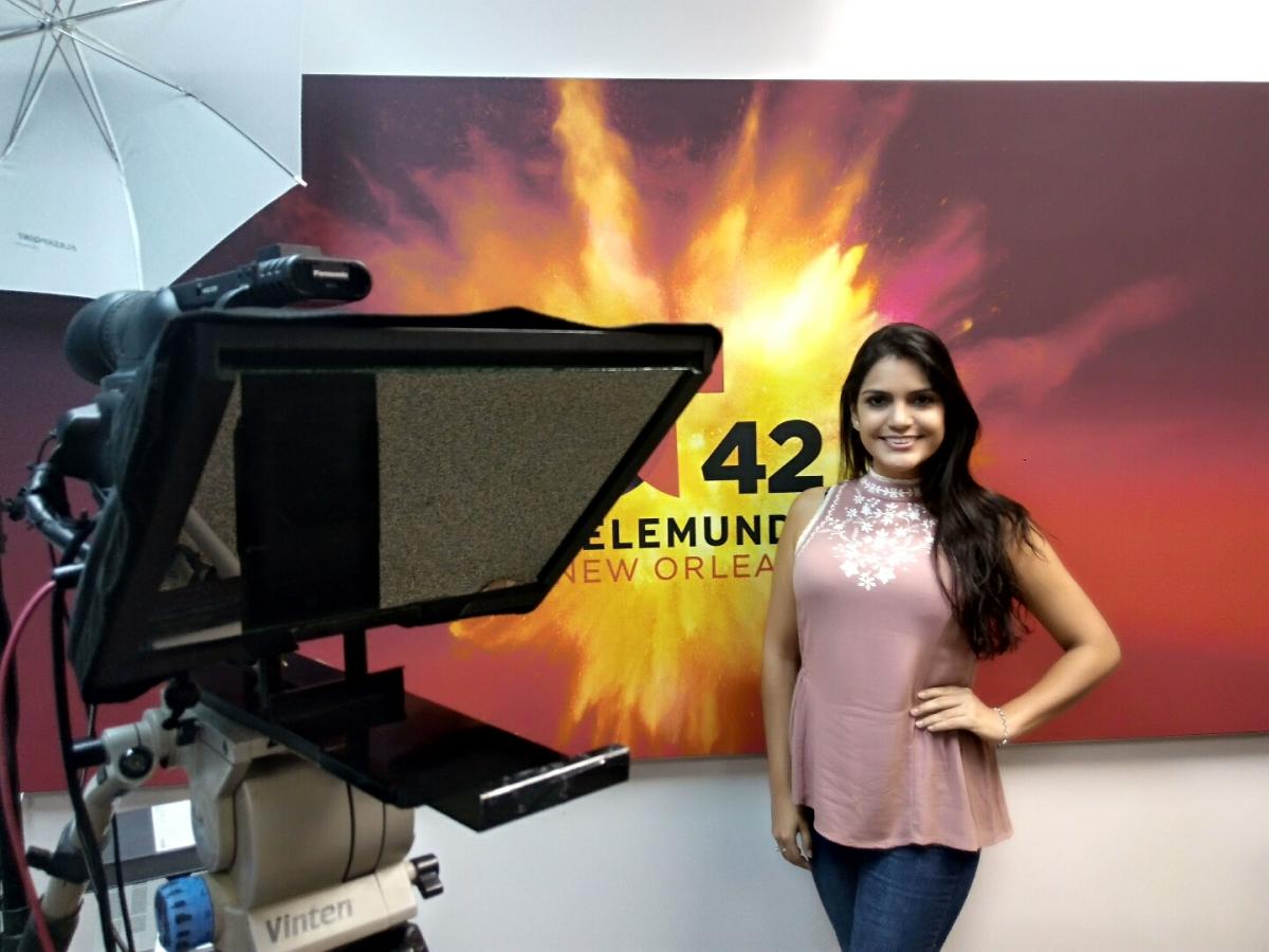 Nicaragüense destaca en Telemundo 42 New Orleans