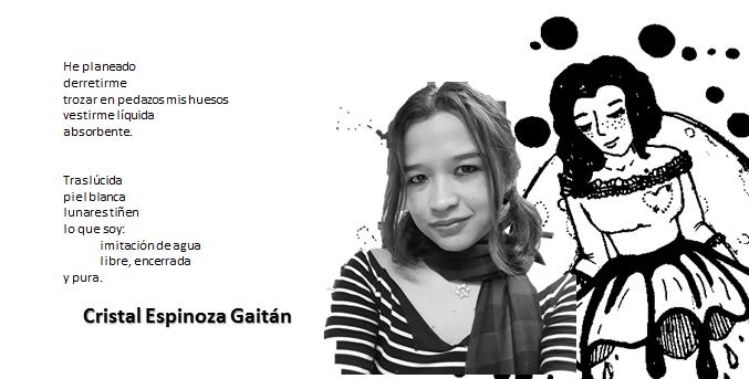 Cristal Espinoza Gaitán presenta su libro depoesía.