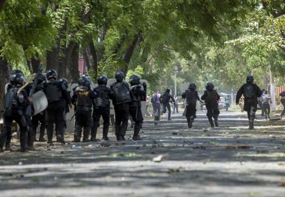Protestas-en-Nicaragua-contra-las-reformas-del-Instituto-Nicaragüense-de-Seguridad-Social-INSS-en-Managua-Nicaragua.-EFE