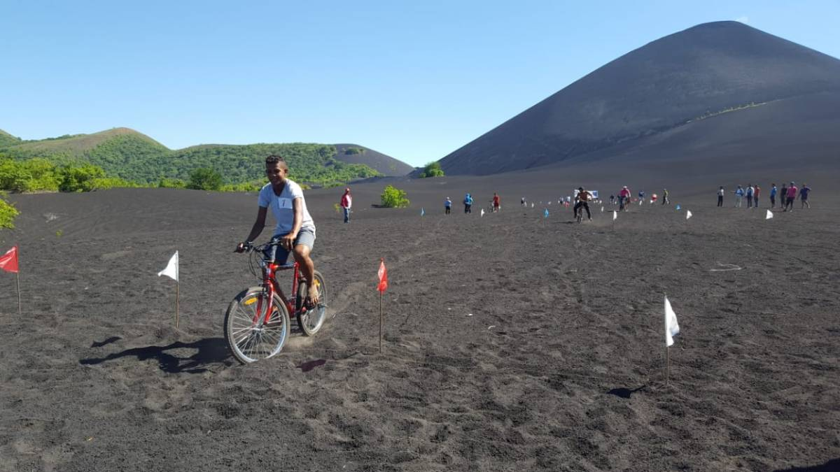 Primer rally ciclistico de la comunida Rota hacía El Cerro Negro, Larreynaga,Malpaisillo