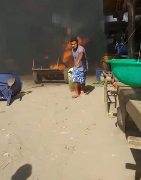 Ultima hora, gran incendio en costas de Cazares DiriambaCarazo