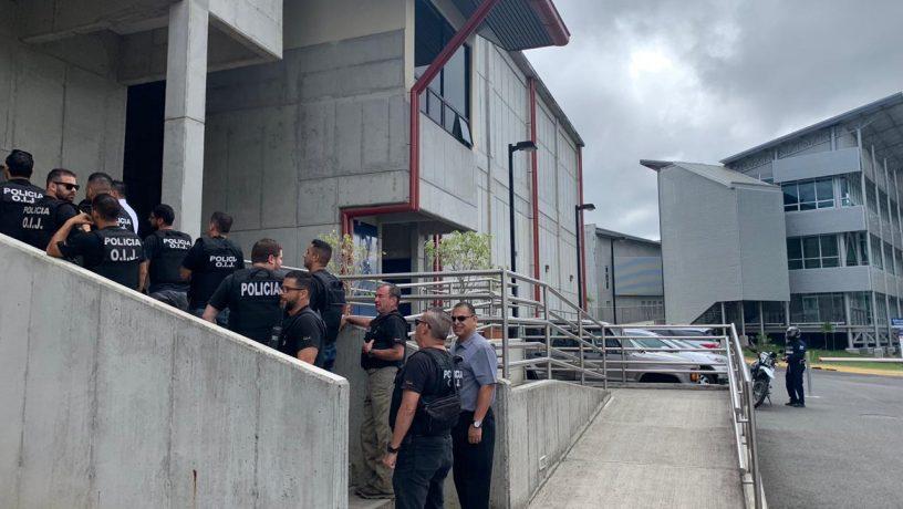 En vivo, allanan Casa Presidencial de Costa Rica Organismo de InvestigaciónJudicial
