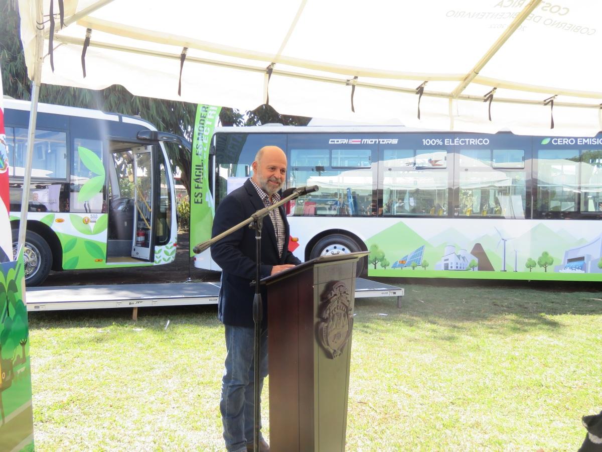 Costa Rica amplía plan piloto de buses eléctricos como  parte de la modernización del transportepúblico